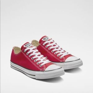 Converse Red Chuck Taylor Low Top